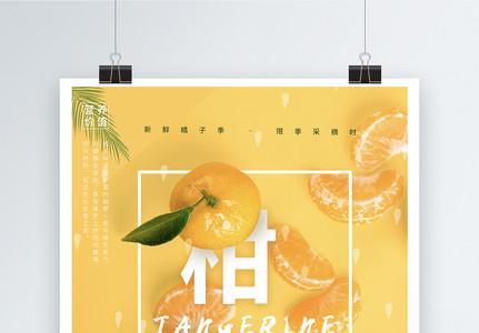 新鲜柑橘水果海报图片