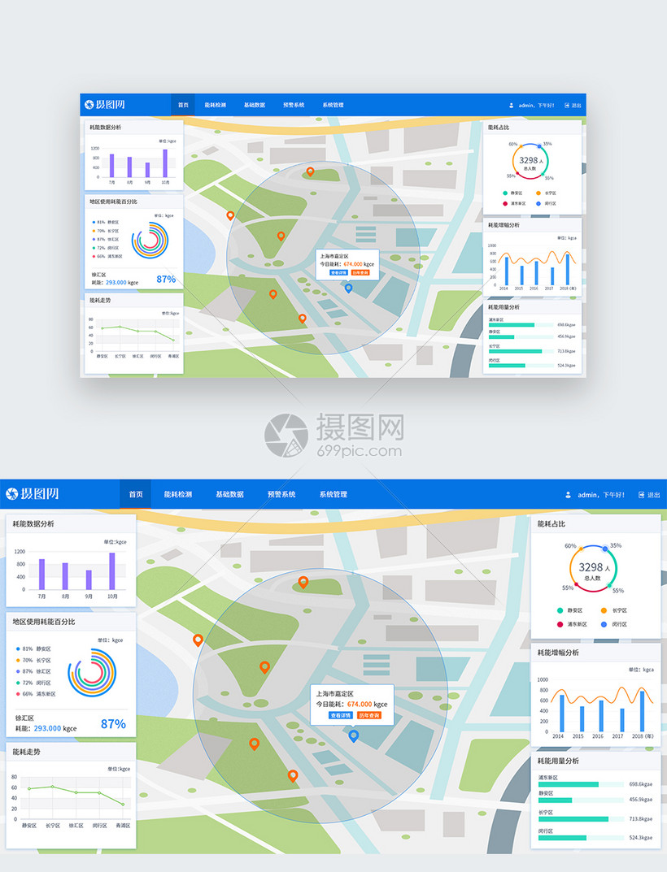 UI分析web简历界面耗界面设计城市模板室内设计师系统英文版图片