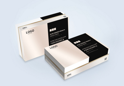 高档化妆品礼盒包装设计图片