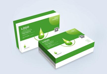 绿色化妆品礼盒包装设计图片