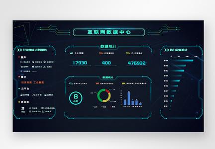 ui设计互联网数据中心web界面图片