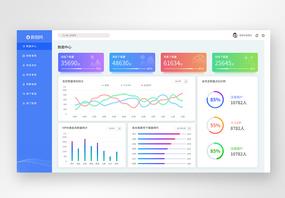 UI设计web端数据可视化网页图片