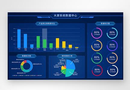 ui设计可视化数据系统web界面图片