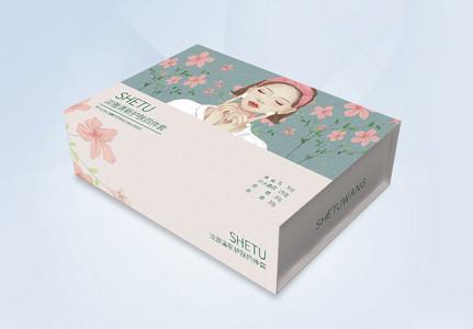 手绘风化妆品包装盒图片