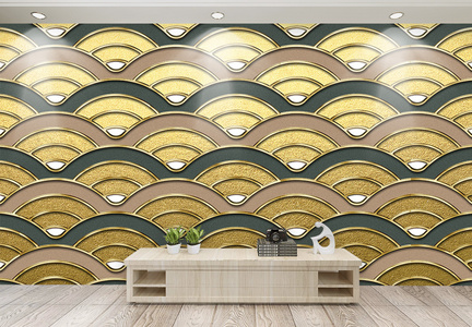 现代简约几何纹理质感背景墙图片