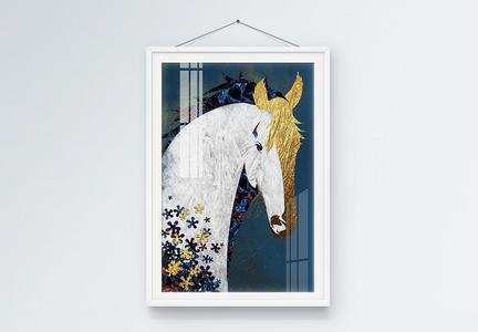 抽象马珐琅彩装饰画图片