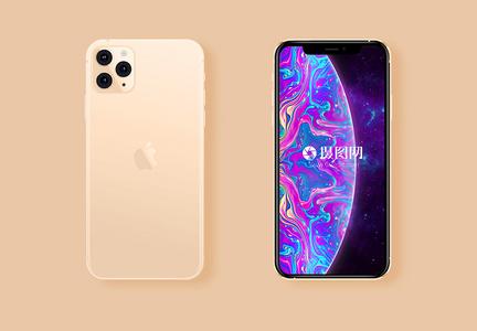 金色 iphone11 Pro Max苹果样机图片