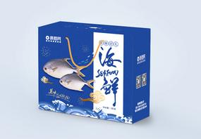 贺新春生鲜礼盒年货包装盒图片