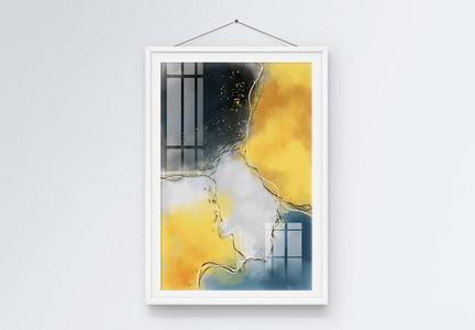 原创手绘抽象油画水彩装饰画图片