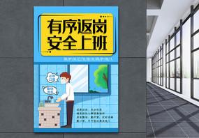 简约卡通企业复工海报图片