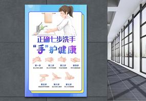 七步洗手法海报图片