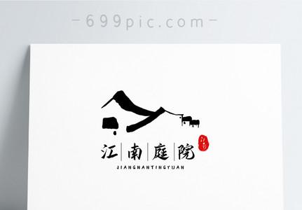 中国风江南庭院logo设计图片