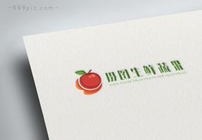 红色水果苹果生鲜蔬果logo设计图片