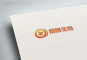 橙色金融理财logo设计图片