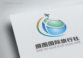 蓝色旅行社LOGO标志设计图片