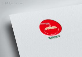 红色美食面条拉面馆logo设计图片