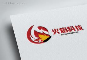 火焰科技公司logo设计图片