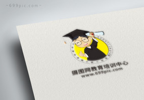 卡通小博士教育LOGO图片