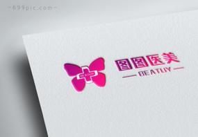 蝴蝶医美logo设计图片