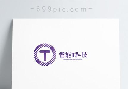 圆形T英文logo设计图片