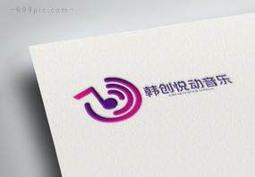 简约渐变音乐图标logo设计图片
