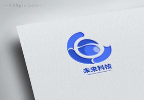 蓝色未来科技logo设计图片