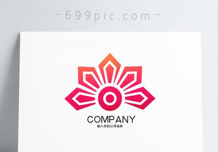 古典花纹样logo设计图片