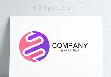 简约几何形状logo设计图片