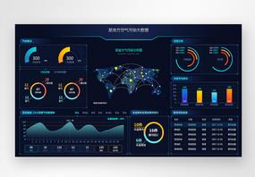 UI设计后台数据可视化web界面图片