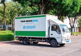 货车车体广告样机图片