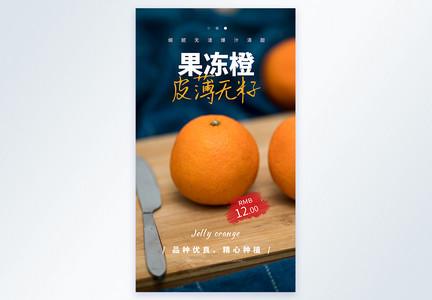 果冻橙摄影图海报图片