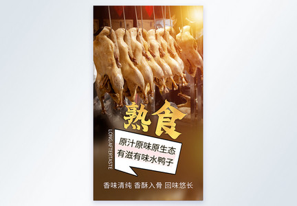 南京特色美食盐水鸭熟食摄影图海报图片