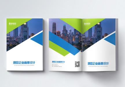 蓝色企业宣传手册画册整套图片