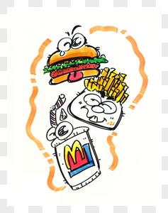 Q版麦当劳食品图片