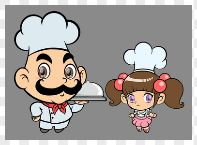 厨师父女图片