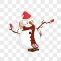 雪人  圣诞帽图片