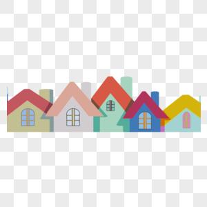 一排房子图片