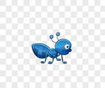 蓝色蚂蚁图片