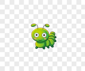 绿色可爱的毛毛虫图片