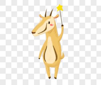 拿着星星指挥棒的羚羊图片