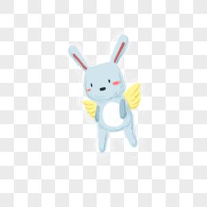 长着翅膀的小兔子图片