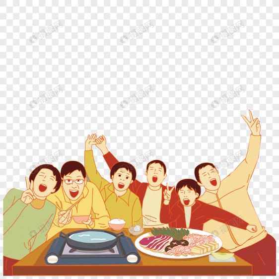 同学聚餐元素素材psd格式_设计素材免费下载_vrf高清