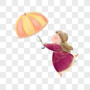 拿着伞跳舞的女人图片