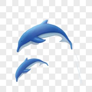 跳出水面的海豚图片