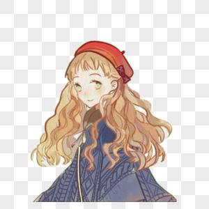 戴帽子的女孩图片