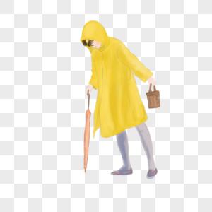 拿伞的女孩图片