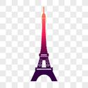 埃菲尔铁塔剪影图片