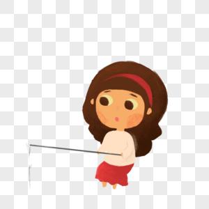 钓鱼的女人图片