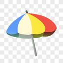 彩色的沙滩太阳伞图片