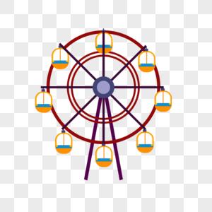 摩天轮矢量图图片